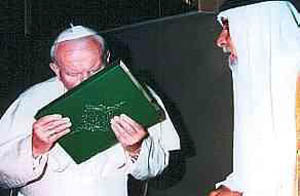JPII Kissing Koran