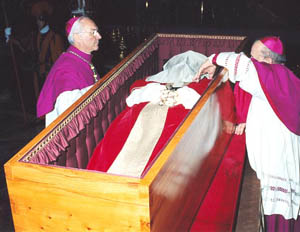 JPII in Coffin
