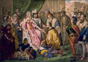 Columbus at the Court of Ferdinand & Isabella