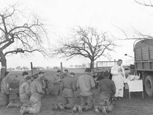 WWII Soldiers at Holy Mass