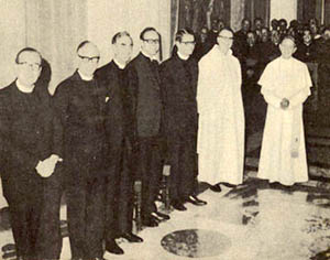 Paul VI with Committee of Six Protestant Ministers