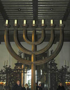 Menorah in Newchurch Cathedral