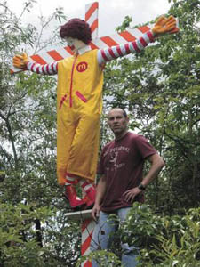 Crucified Ronald McDonald
