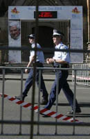 Staatspolizei Shut down Protests against Benedict-Ratzinger