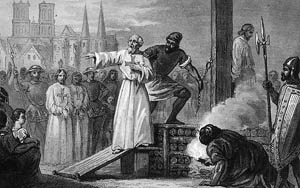 Knights Templar Grand Master Burned at the Stake