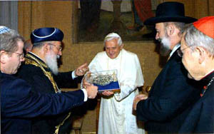 Benedict-Ratzinger and Jewish Rabbis