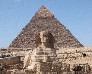 Great Pyramids and Sphinx