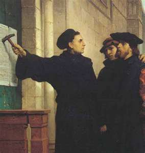 Martin Luther Posting the 95 Theses