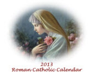 2013 Traditional Catholic Calendar