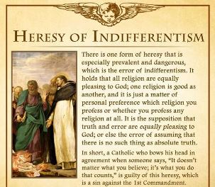 Heresy of Indifferentism