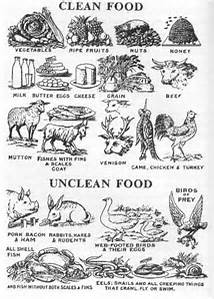 Mosaic Clean and Unclean Foods